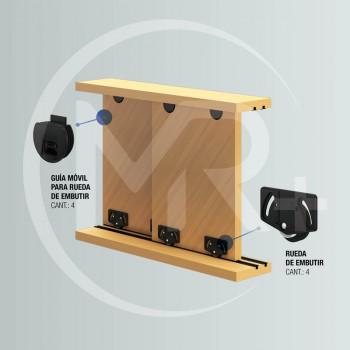 Sistema office para muebles de DK10 de embutir