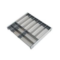 Cubiertero Acero Inox modulo 1000mm - 12 piezas