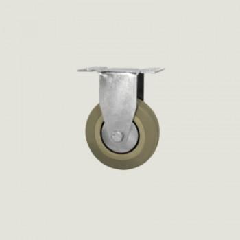 Rueda goma gris eco 50mm fija