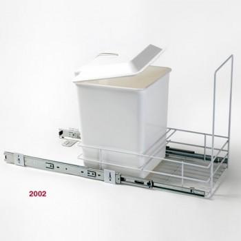 Porta residuos con canasta blanco - 2002