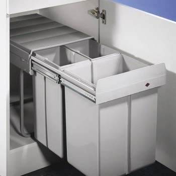 Cubo Porta residuos triple Hafele 32 Litros - 502.67.750