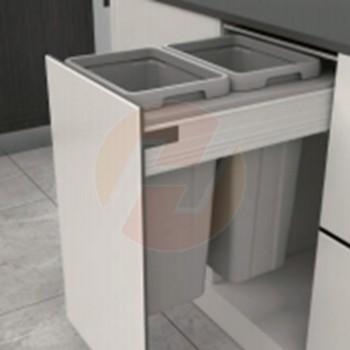 Cubos para residuos doble 36 litros modulo 400mm (SIN GUIAS)