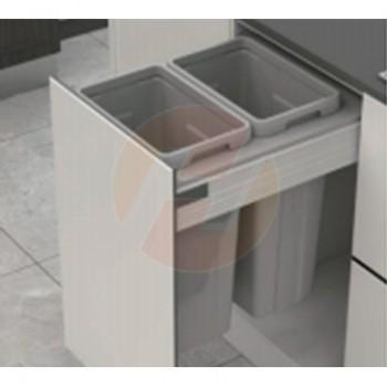 Cubos para residuos doble 54 litros modulo 450mm (SIN GUIAS)
