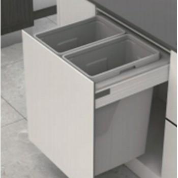 Cubos para residuos doble 70 litros modulo 600mm (SIN GUIAS)