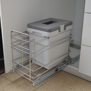 Porta residuos VIBO PET1 Modulo 300 con botellero